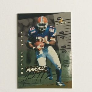 1998 Pinnacle Fred Taylor Autograph 1 of 500 Jags